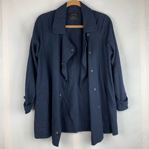 Love Tree Navy linen blend jacket